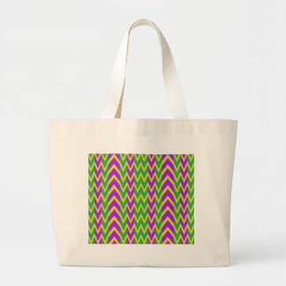 Grand Tote Bag Zigzags de mardi gras