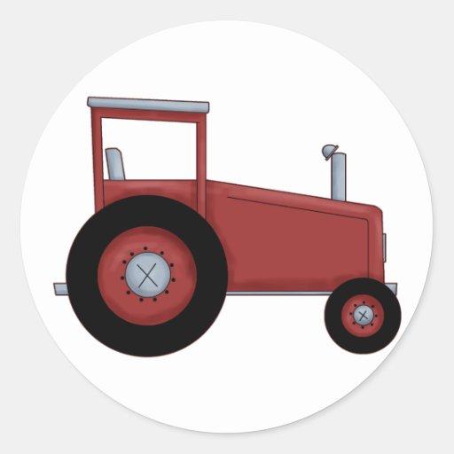 Grand tracteur rouge autocollants