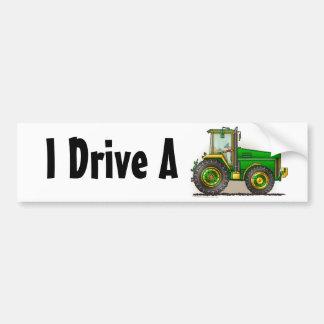 """""""Grand tracteur vert, je conduis… des adhésifs pou Autocollant Pour Voiture"""