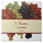 Grand trépied personnalisé de tuile de vin carreaux en céramique