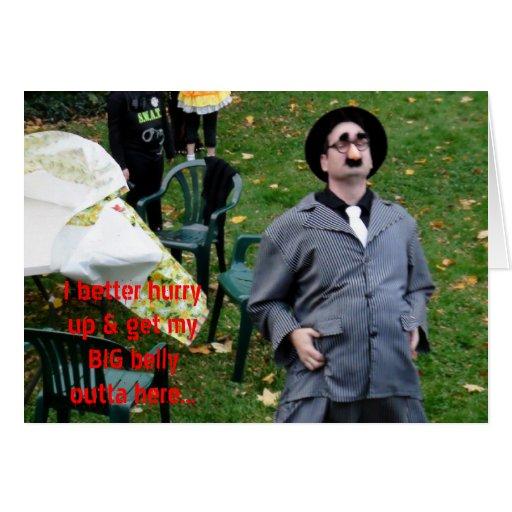 Grand ventre de parrain sur l'humour de Halloween  Cartes De Vœux
