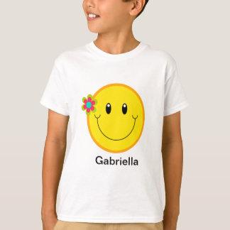 Grand visage souriant jaune t-shirt
