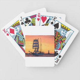 Grand voilier marchand sur la mer baltique cartes à jouer