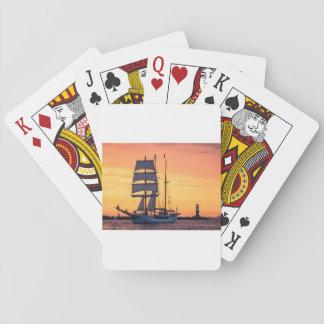 Grand voilier marchand sur la mer baltique jeux de cartes