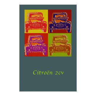 Grande affiche de Citroen 2CV