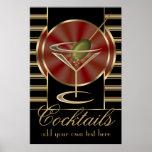 Grande affiche de cocktail fait sur commande