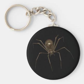 Grande araignée d'image tramée de Brown 3D Porte-clé Rond