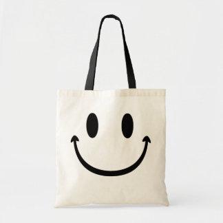Grande bouche de visage souriant sac de toile