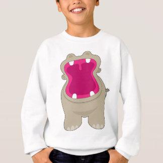 Grande bouche d'hippopotame sweatshirt