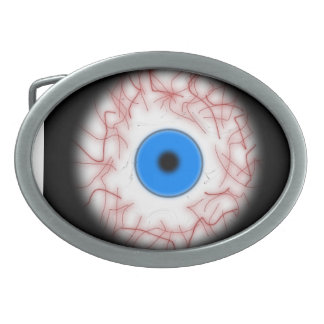 Grande boucle de ceinture bleue de globe oculaire