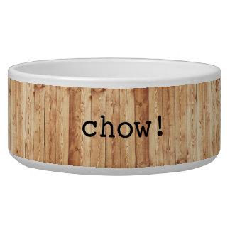 """Grande """"bouffe !"""" cuvette en céramique de chien - bols pour chien"""