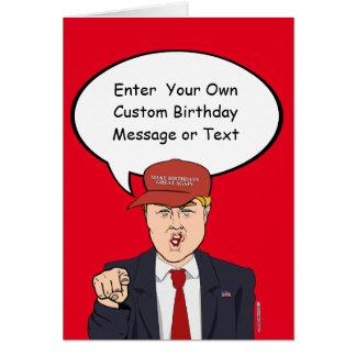 Grande carte d'anniversaire d'atout - customisez