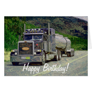 Grande carte d'anniversaire de Camion-amant de Rou