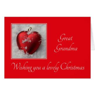 grande carte de Joyeux Noël de grand-maman