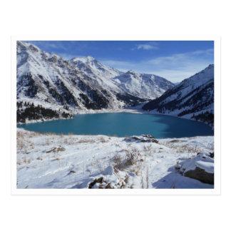 Grande carte postale de lac almaty