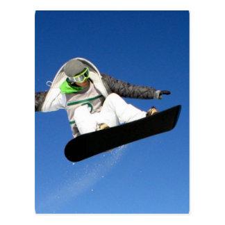 Grande carte postale de snowboarding d'air