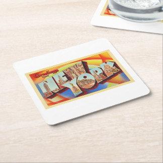Grande carte postale de voyage de lettre de New Dessous-de-verre Carré En Papier