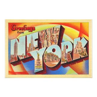 Grande carte postale de voyage de lettre de New Impression Photo