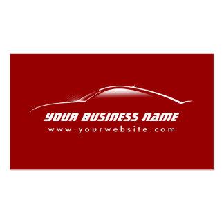 Grande carte rouge de commerce de l automobile d e modèles de cartes de visite