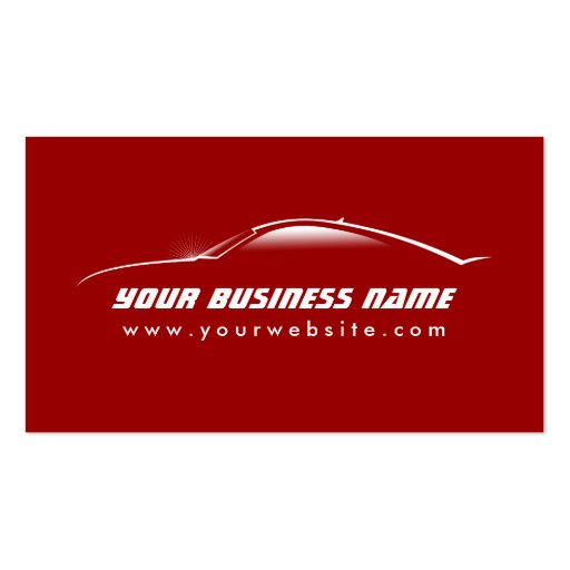 Grande carte rouge de commerce de l'automobile d'e modèles de cartes de visite