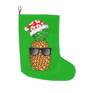 Grande Chaussette De Noël Ananas du père noël