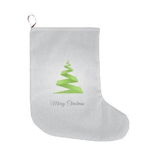 Grande Chaussette De Noël Arbre de Noël simple de ruban de Noël