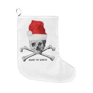 Grande Chaussette De Noël Avast bas de crâne de pirate de vacances du YE