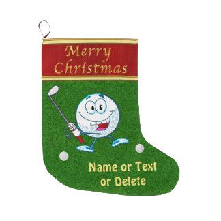 Grande Chaussette De Noël Bas drôles personnalisés de golf de Joyeux Noël