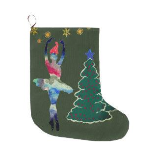 Grande Chaussette De Noël Bas fait sur commande de Noël de ballerine