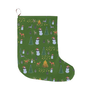 Grande Chaussette De Noël Bas fait sur commande heureux de Noël