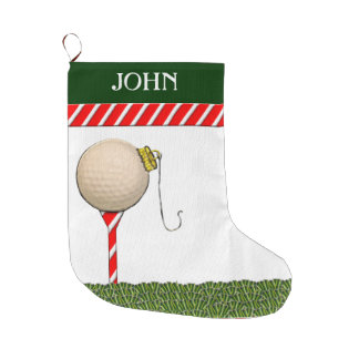 Grande Chaussette De Noël Cadeaux personnalisés de Noël de golf