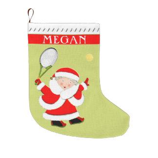 Grande Chaussette De Noël cadeaux personnalisés de Noël de tennis