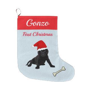 Grande Chaussette De Noël Chiot de labrador retriever