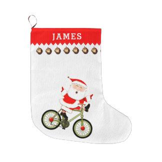 Grande Chaussette De Noël Cycliste