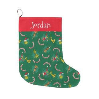 Grande Chaussette De Noël Dr. Seuss | le joyeux Grinchmas motif de Grinch |