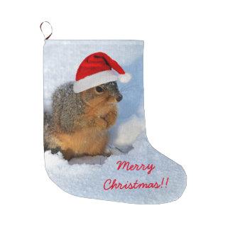 Grande Chaussette De Noël Écureuil de vacances