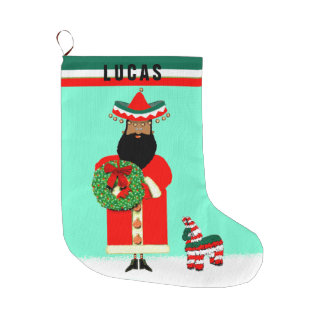 Grande Chaussette De Noël feliz Navidad