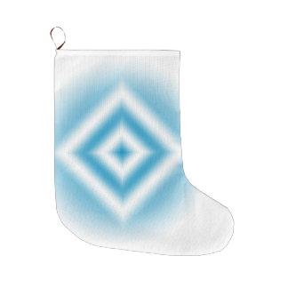 Grande Chaussette De Noël gradient bleu de diamant de Personnaliser-ciel