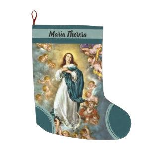 Grande Chaussette De Noël Hypothèse personnalisée de Vierge Marie de Noël
