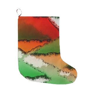Grande Chaussette De Noël imaginaire abstrait 29A