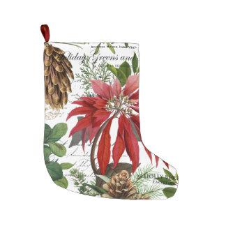 Grande Chaussette De Noël Jardin d'hiver vintage moderne floral