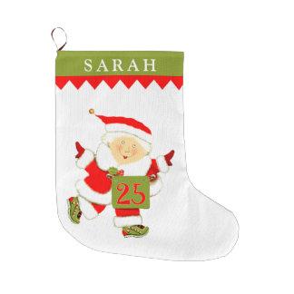 Grande Chaussette De Noël le fonctionnement des femmes personnalisées