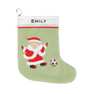 Grande Chaussette De Noël Le football des femmes