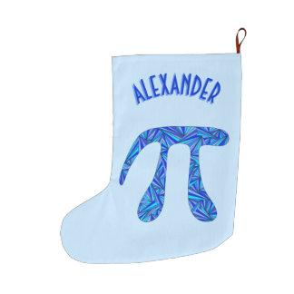 Grande Chaussette De Noël Les vacances bleues d'amusement de geek de maths
