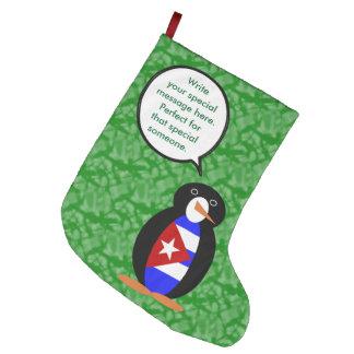 Grande Chaussette De Noël M. cubain Penguin de vacances