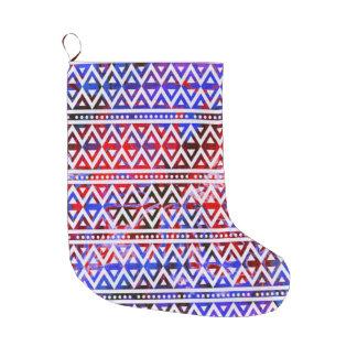 Grande Chaussette De Noël Motif tribal V01C d'imaginaire