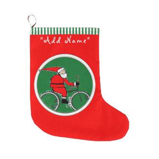 Grande Chaussette De Noël Noël de cycliste