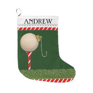 Grande Chaussette De Noël Noël de golf