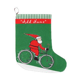 Grande Chaussette De Noël Noël de recyclage