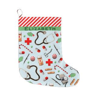 Grande Chaussette De Noël Noël d'infirmière collectable